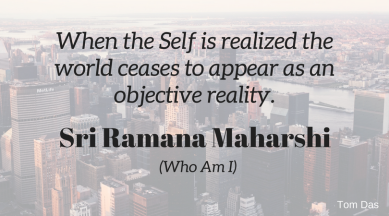 ramana the world ceases to appear as an objective reality