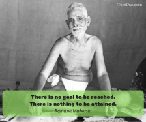 ramana there is no goal to be reached. there is nothing to be attained.