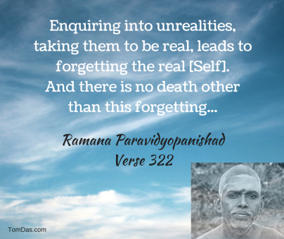 ramana there is no other death than forgetting the self
