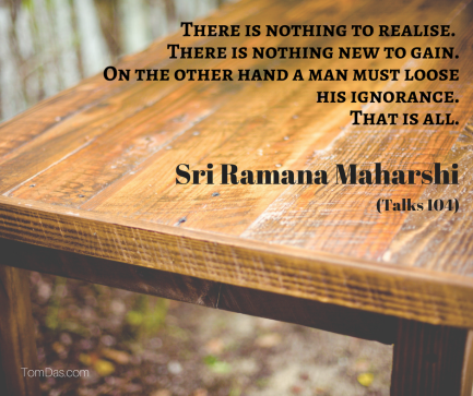 ramana there is nothing to realise. just lose ignorance.