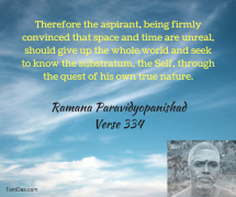 ramana - time and space are unreal