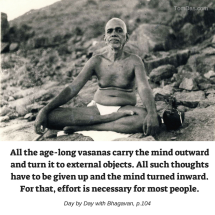ramana turn within effort is required