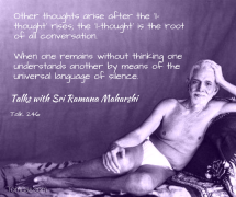 ramana universal language of silence