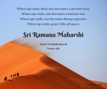 ramana when ego ends one becomes a devotee true