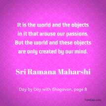 ramana world created by the mind