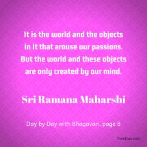 ramana world created by the mind