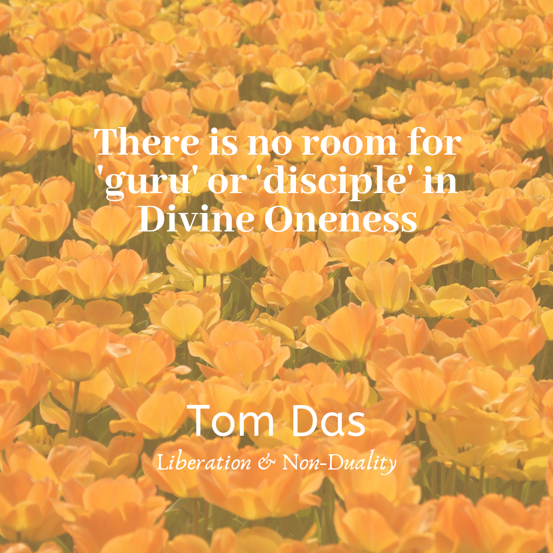 No room for guru or disciple