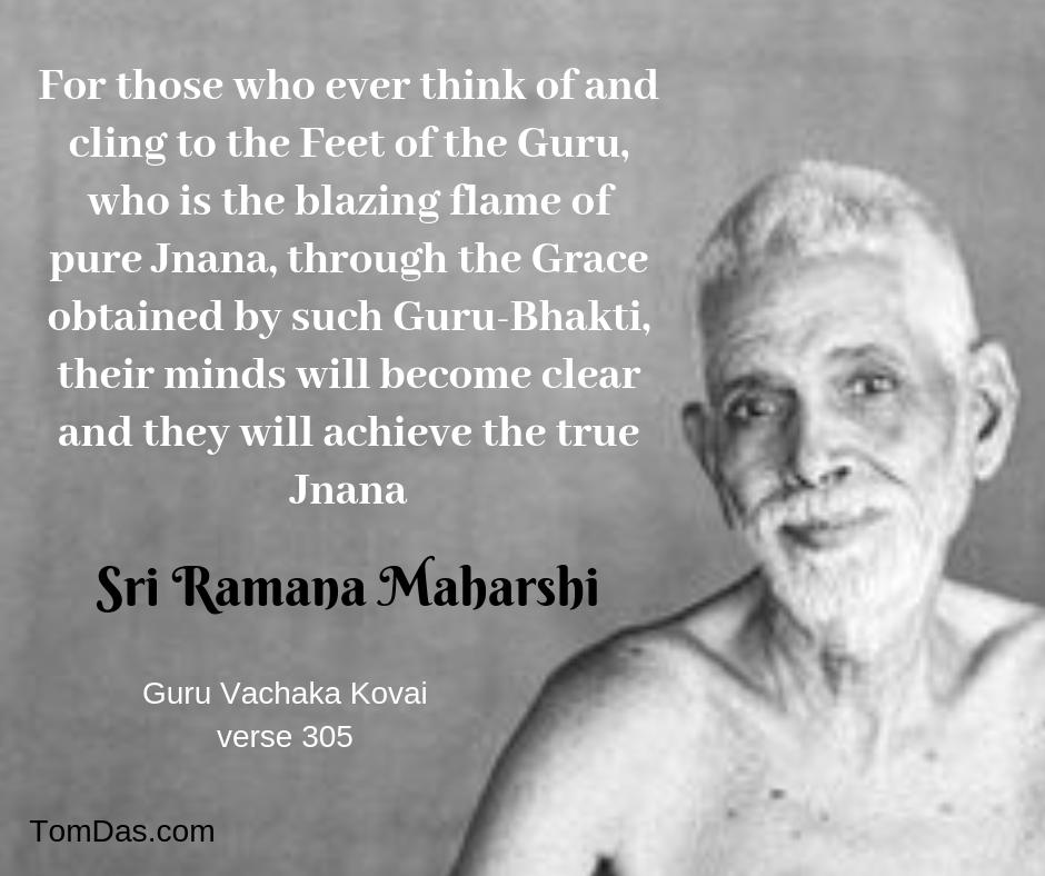 Ramana guru bhakti leads to jnana