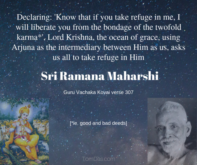 Ramana take refuge in Krishna