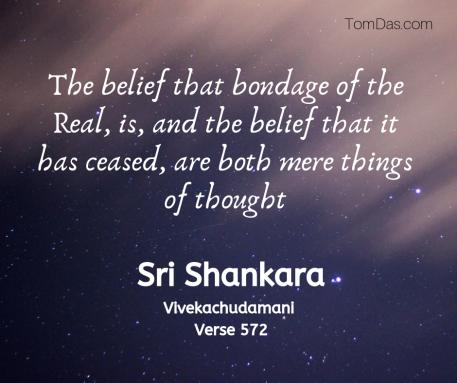Shankara bondage is mere thought