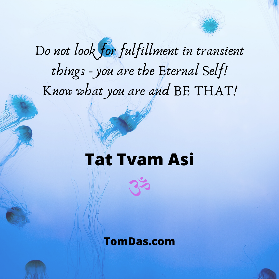 Do not look for fulfillment in transient things