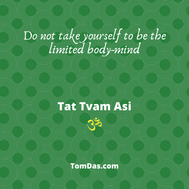 Do not take yourself to be the limited body-mind