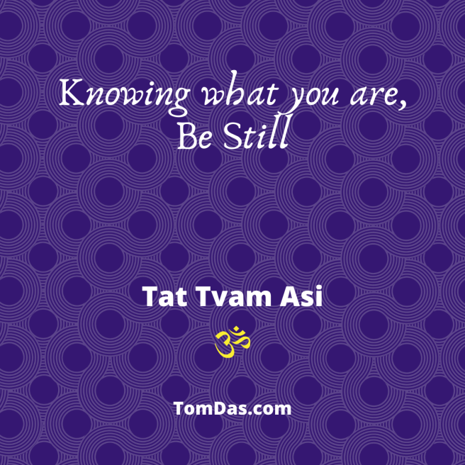 Knowing what you are Be Still