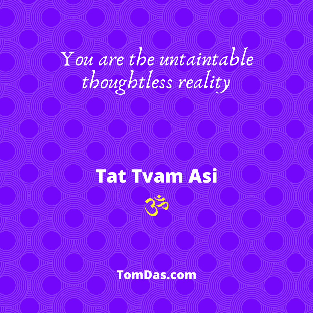 You are the untaintable thoughtless reality