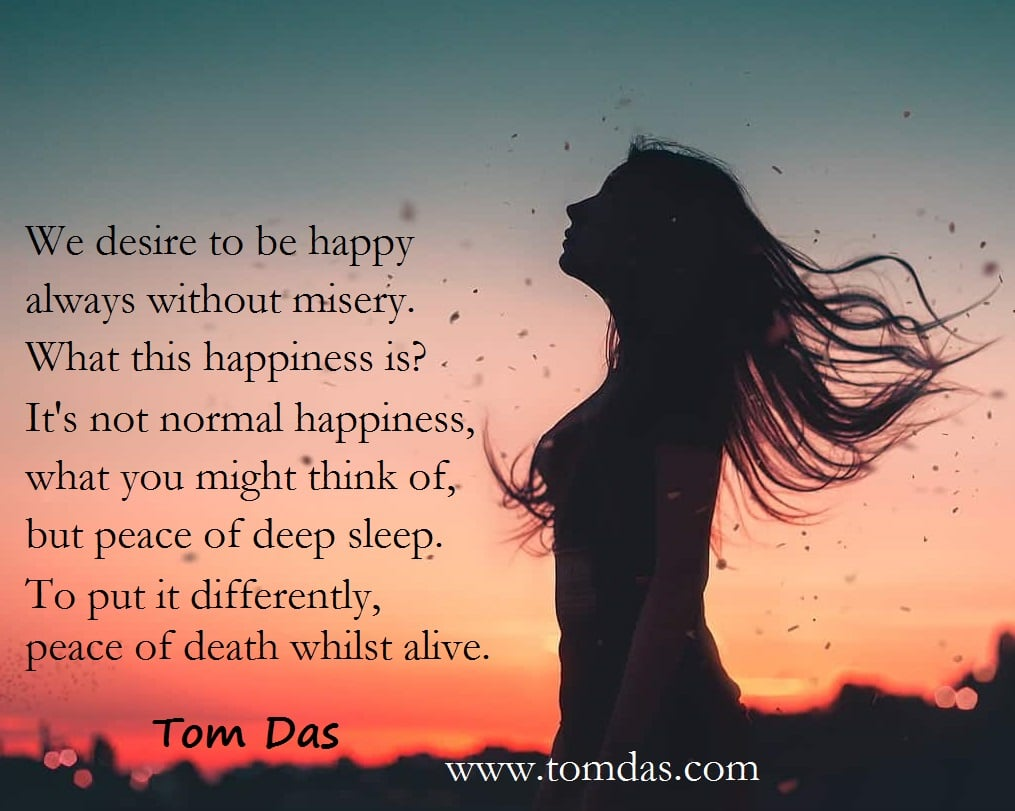Tom Das peace of deep sleep