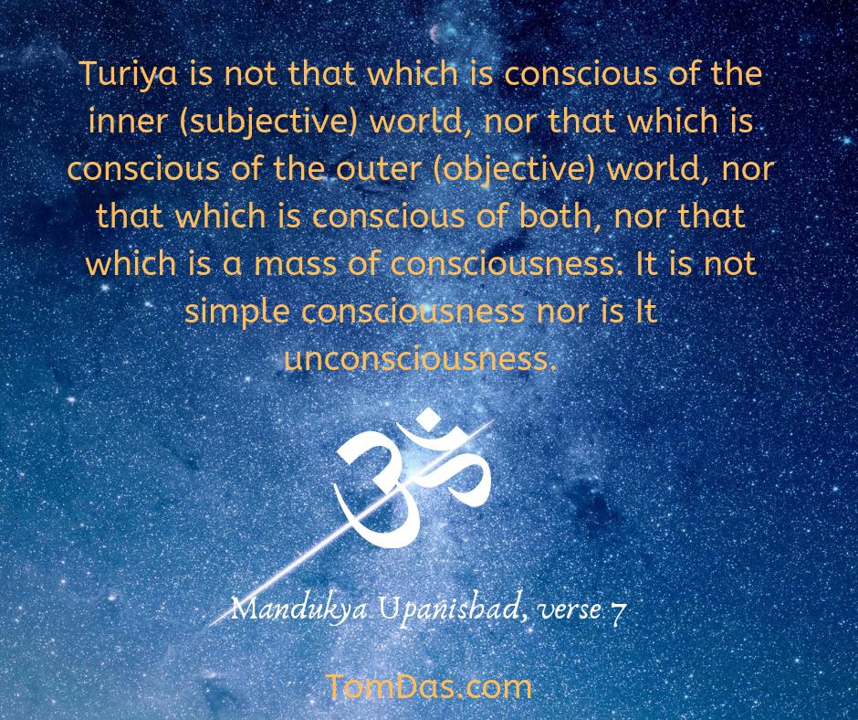 Mandukya Up not simple consciousness